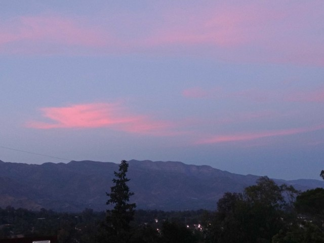 Ojai 1 - Sunday Pink Moment