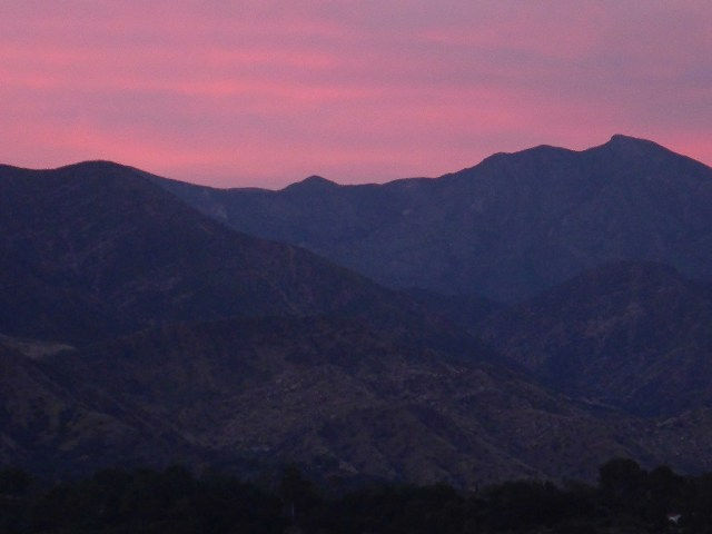 Ojai 7 - Tuesday Pink Moment