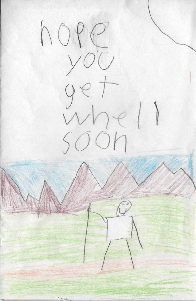 Get Well Card from Kevin - Small